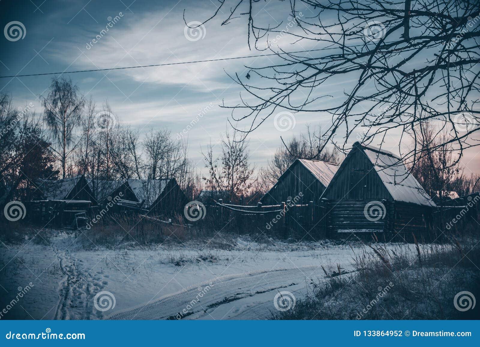 Starzy domy w wiosce