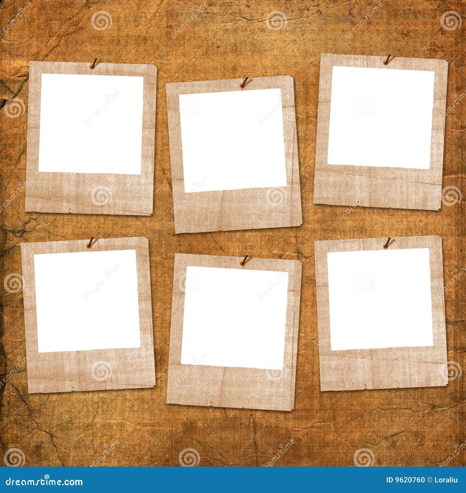 Starzy grunge papiery sześć obruszeń