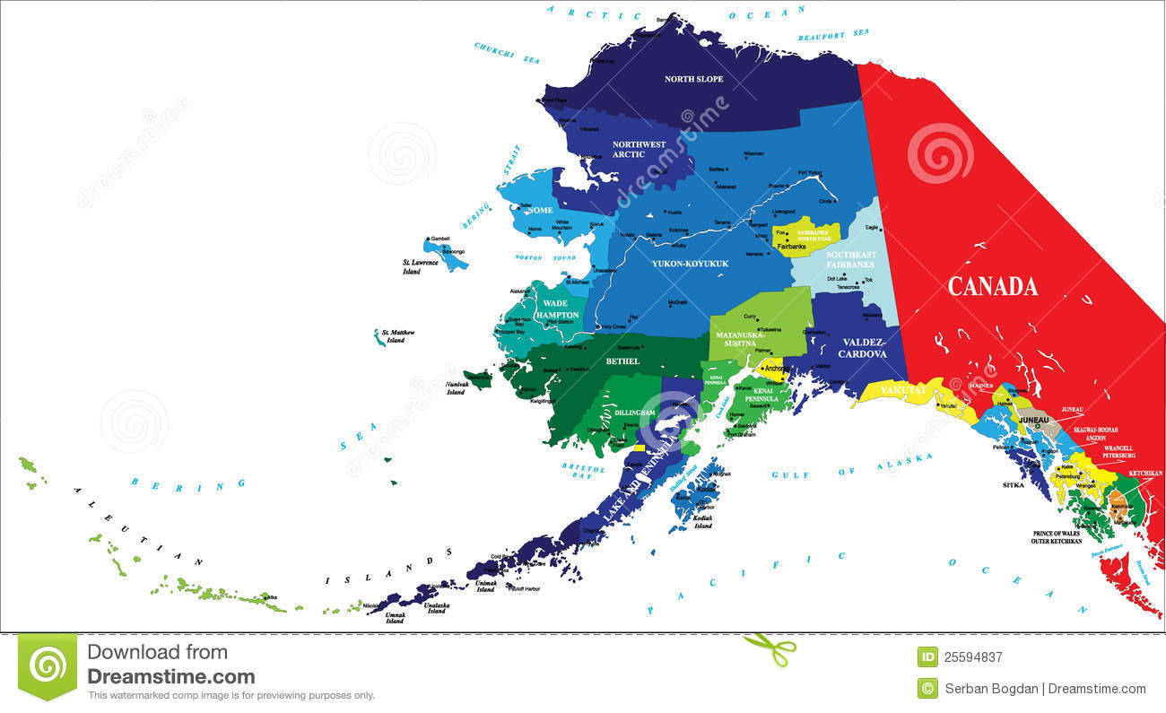 State of Alaska map stock vector. Illustration of bethel ... on map of caribbean cities, map of canada cities, map of mediterranean cities, map of american cities, map of chinese cities, map of afghanistan cities, map of cherokee cities, map of western cities, map of finland cities, map of broward cities, map of viking cities, map of russian cities,