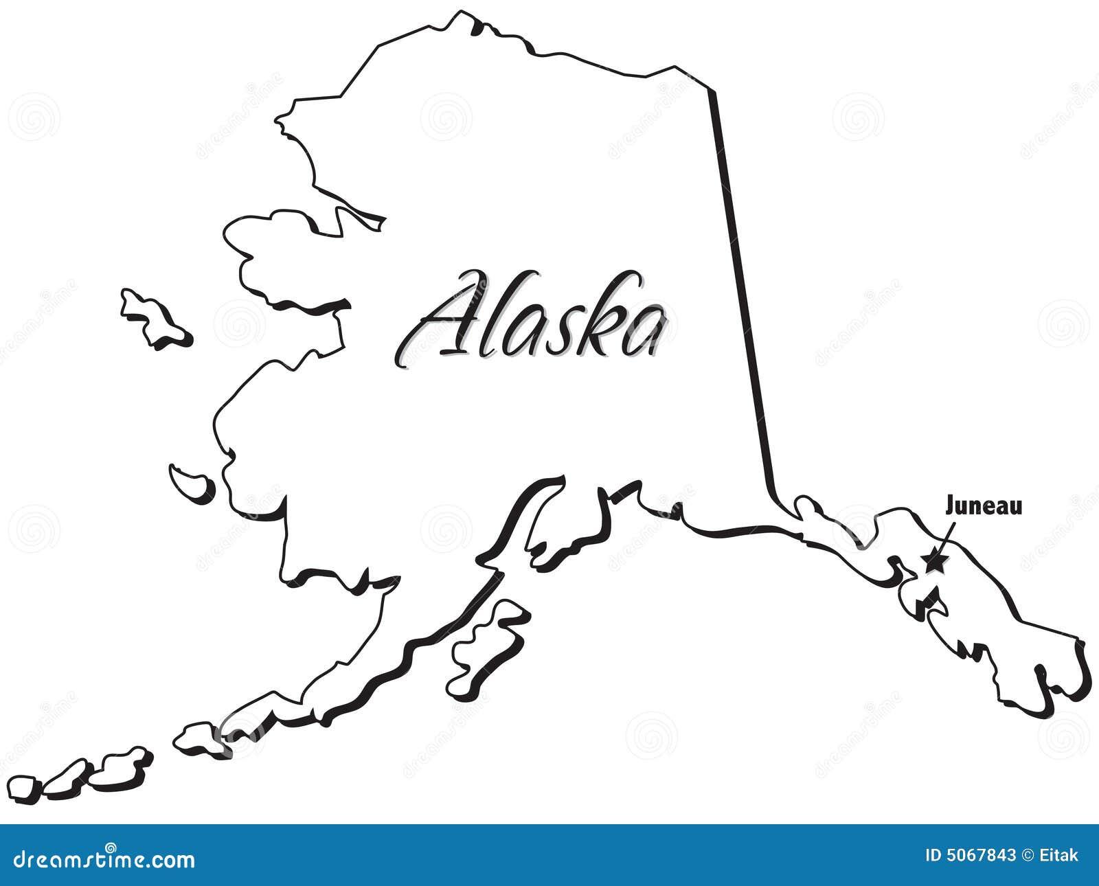 State Of Alaska Outline Stock Photos  Image 5067843