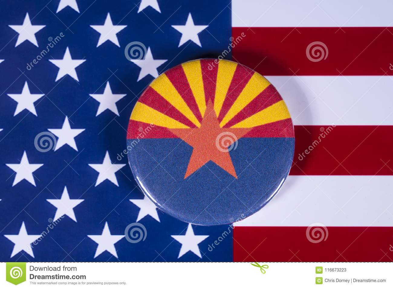 State Of Arizona In The Usa Editorial Stock Photo Image Of Globe