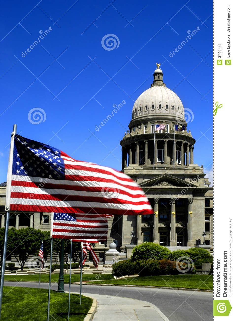 Download State Capital with Flags stock photo. Image of america - 3740456