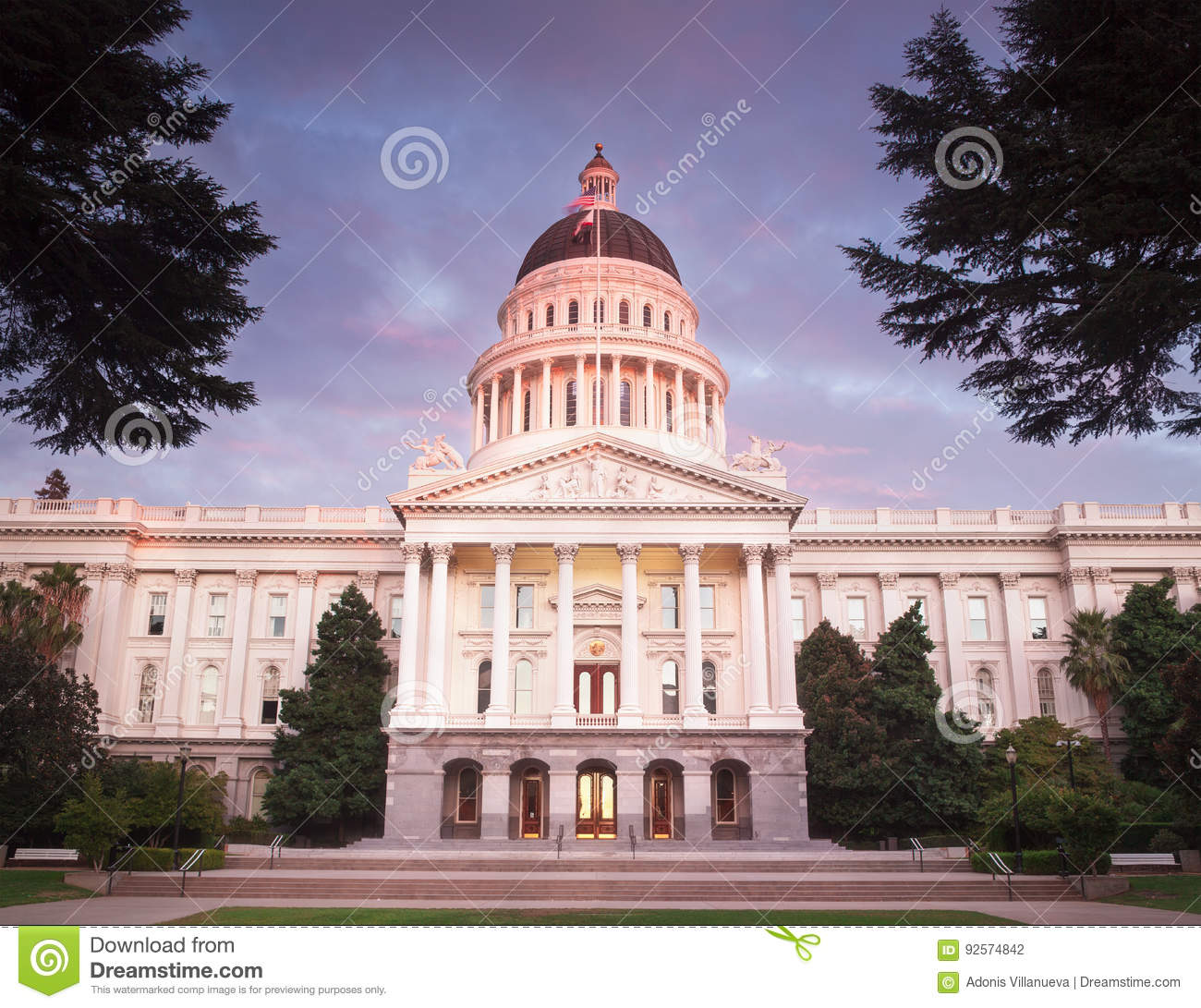 The State Capitol Of California In Sacramento