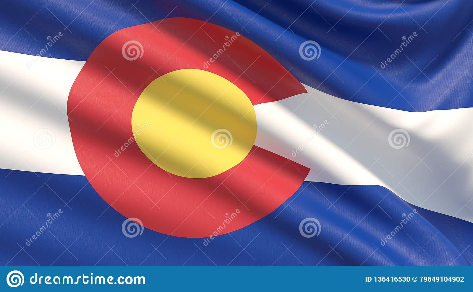State of Colorado flag. Flags of the states of USA.