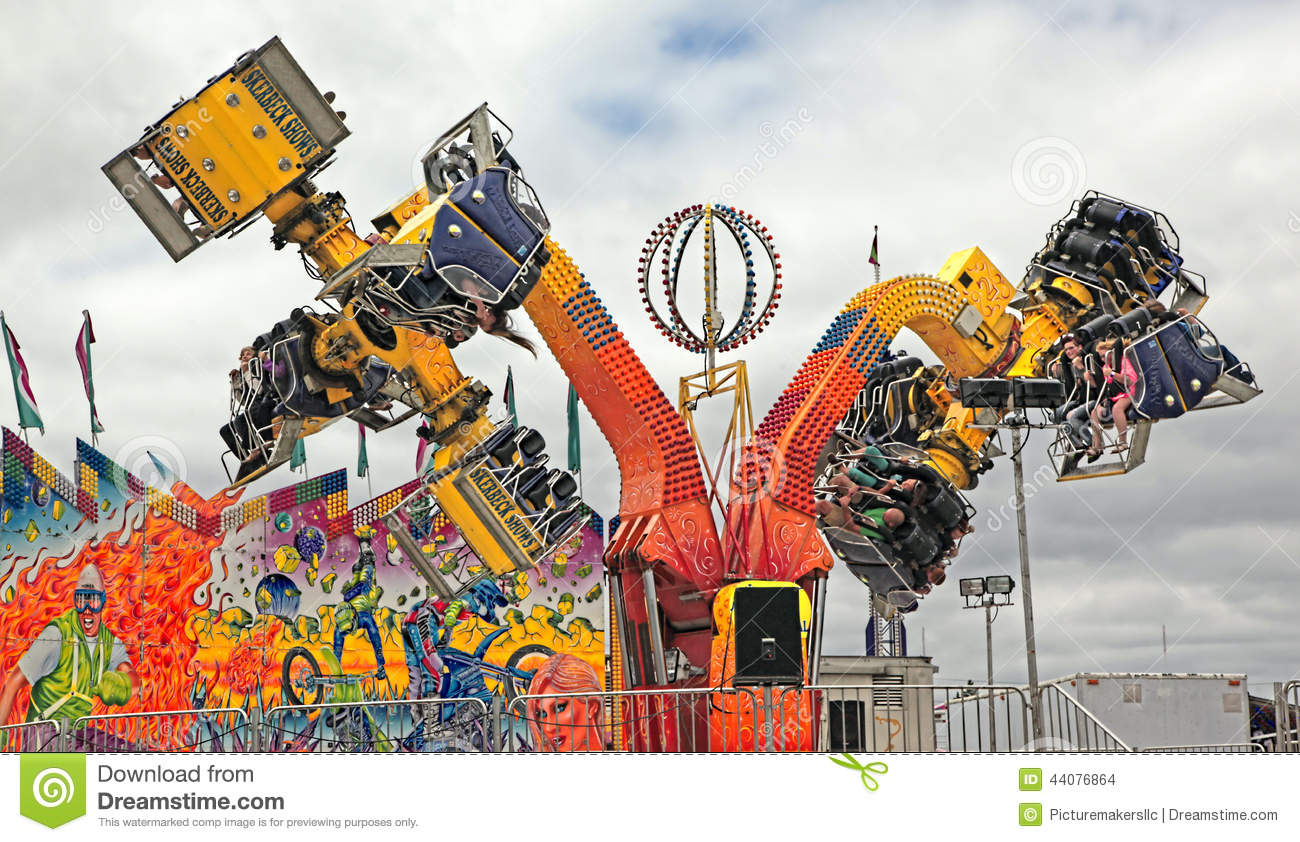 State Fair Carnival Rides, Michigan Editorial Stock Image - Image of ...