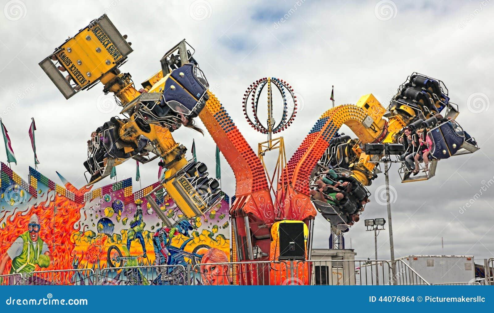 State Fair Carnival Rides, Michigan Editorial Stock Image - Image ...