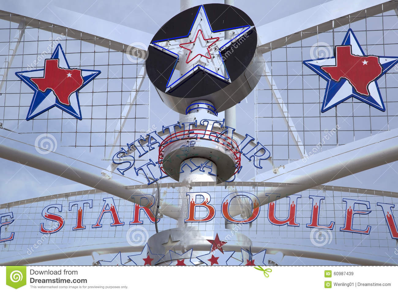 State Fair Texas Sign Star Map Stock Image Image Of Dallas Star