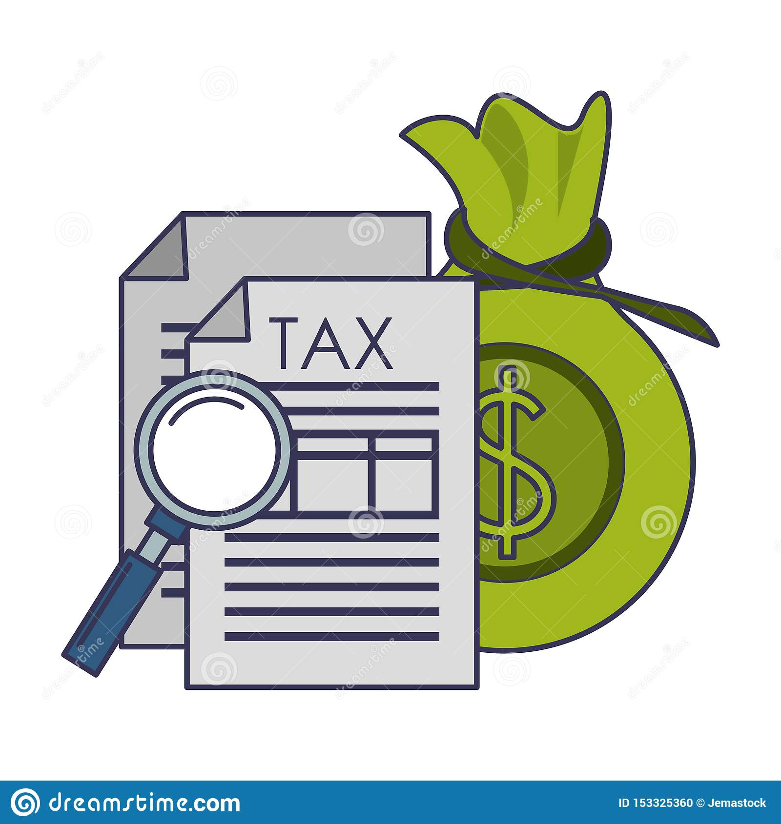State Government Tax Business Cartoon Stock Vector