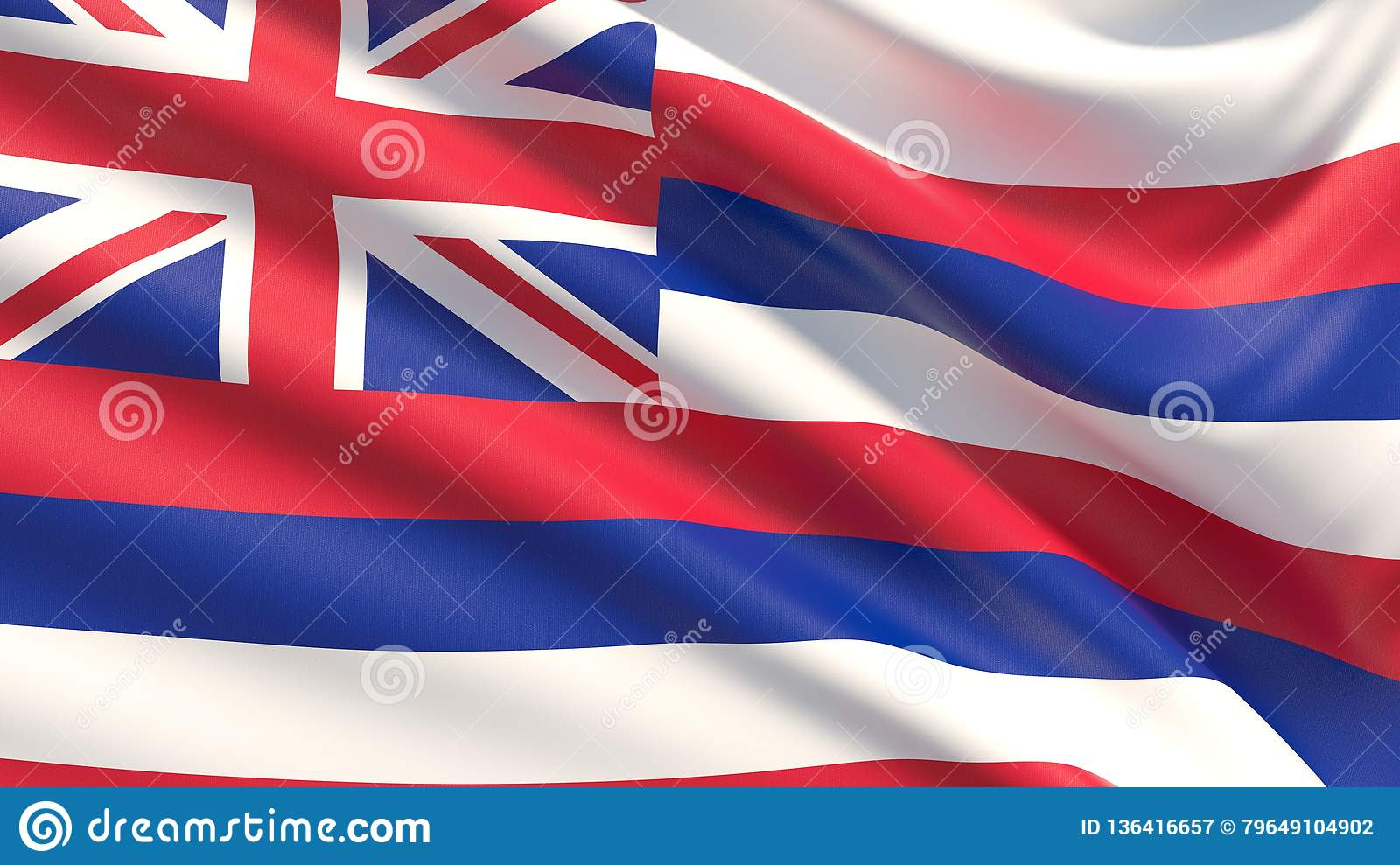 State of Hawaii flag. Flags of the states of USA.