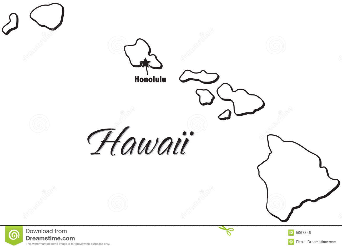 Cook Islands Map Coloring Page