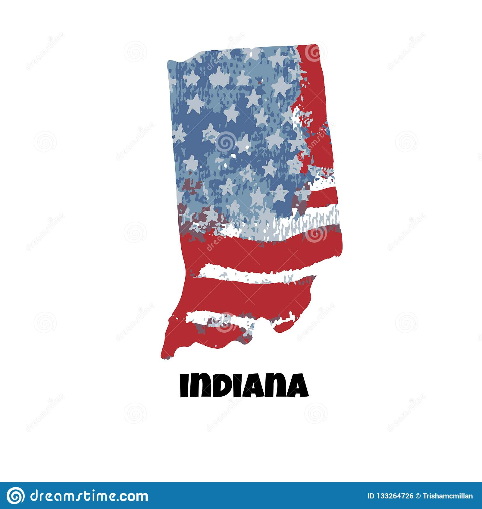 Artistic Of - Indiana United 133264726 Illustration Vector America Honor States Stock State