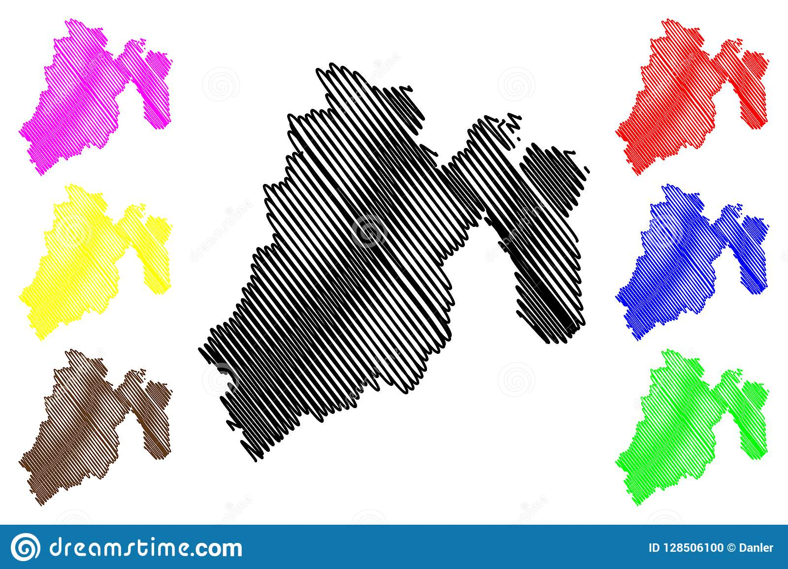 State of Mexico map vector stock vector. Illustration of ...