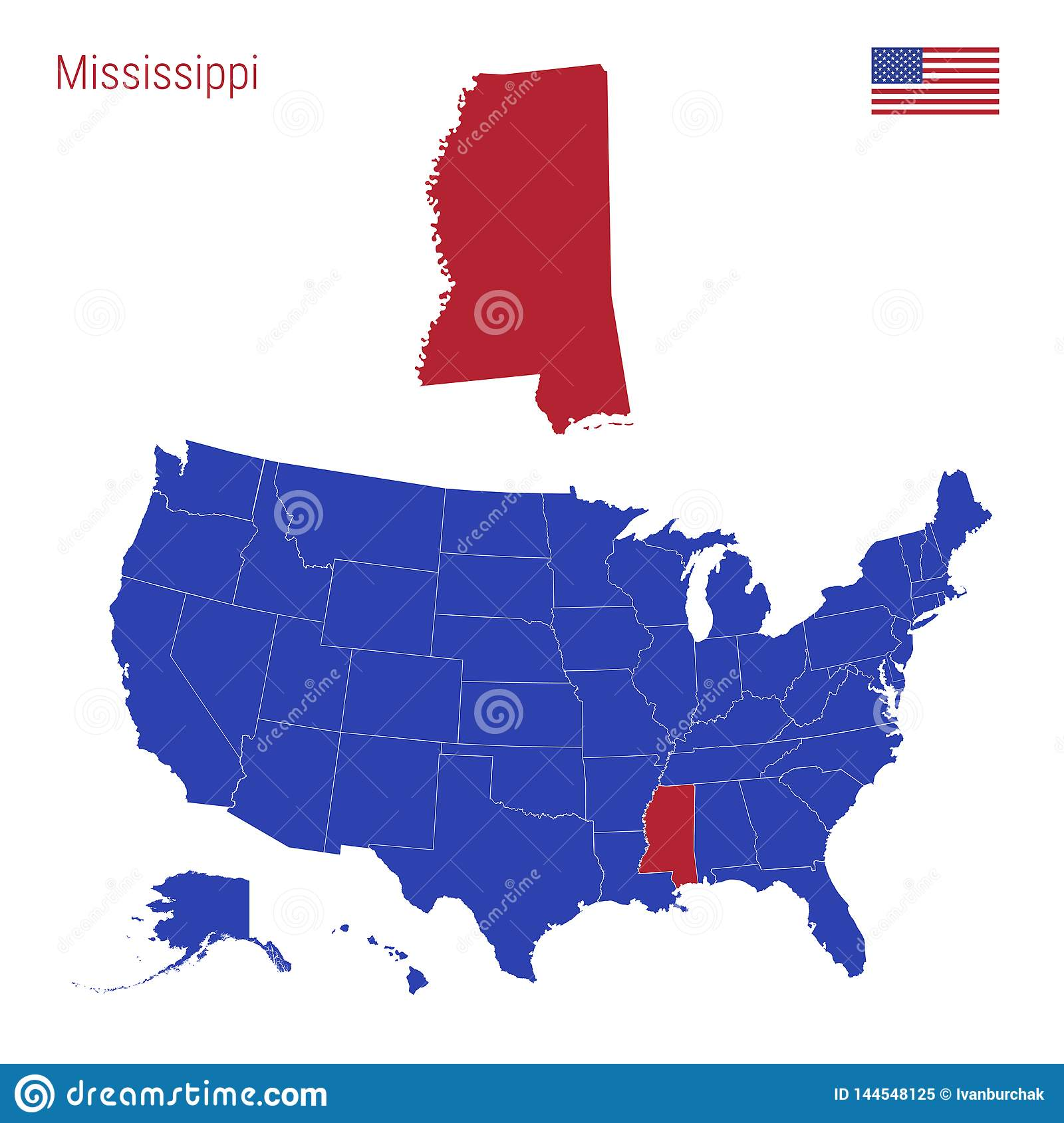 The State Of Mississippi Is Highlighted In Red. Vector Map ... on weather map mississippi, map of romania, map of japan, map of united arab emirates, map of singapore, us map mississippi, map of netherlands, map of india, map of us territories, map of ireland, map of united kingdom, state flags mississippi, map of australia, road maps mississippi, google maps mississippi, united states map mississippi, map of finland, map of austria, map of thailand, map of denmark,