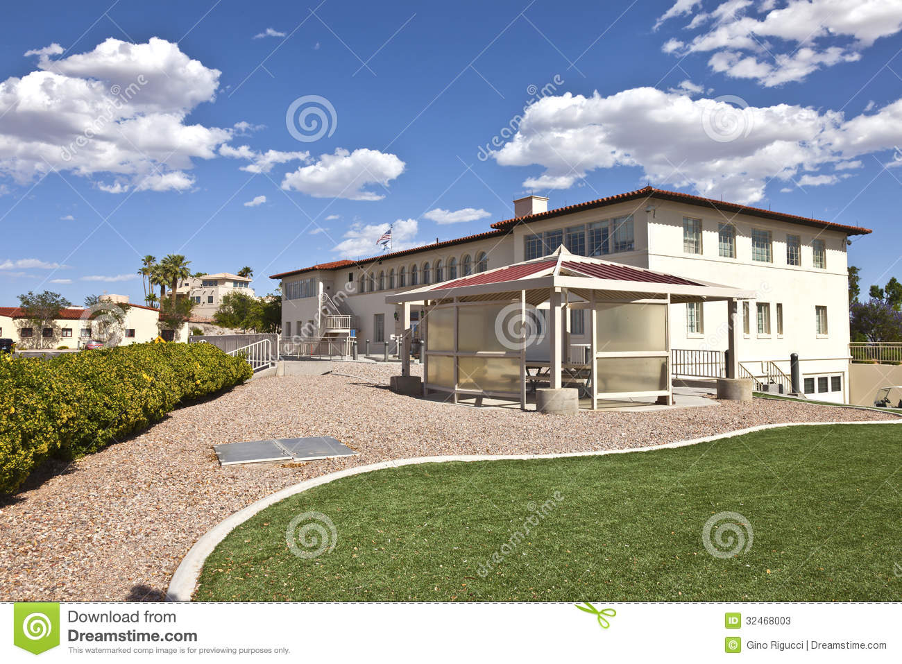 State Offices Backyard Boulder City Nevada.