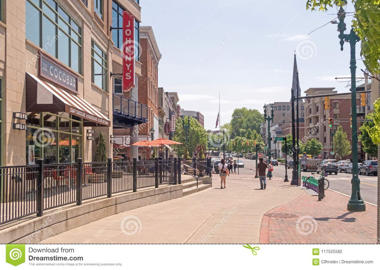 State Street Scene Looking East Editorial Photography Image Of