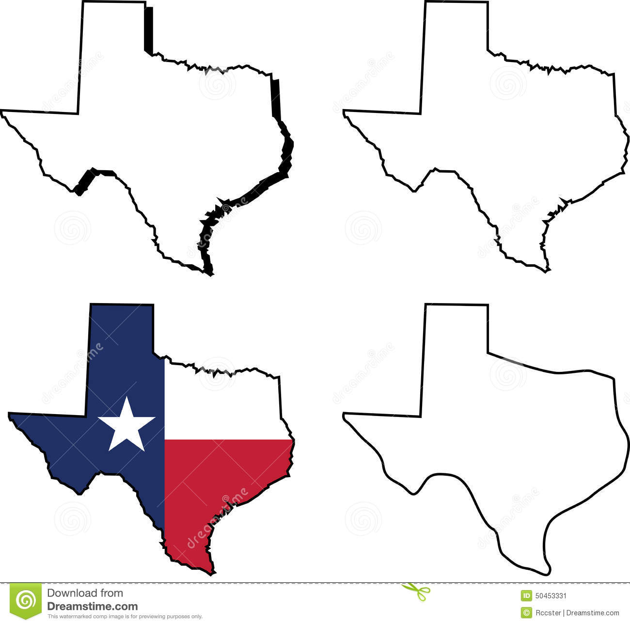 state of texas stock vector illustration of outlined 50453331