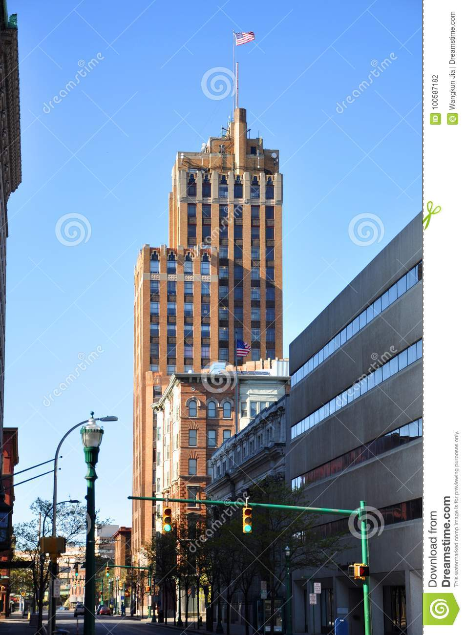 state tower building syracuse new york usa editorial photography