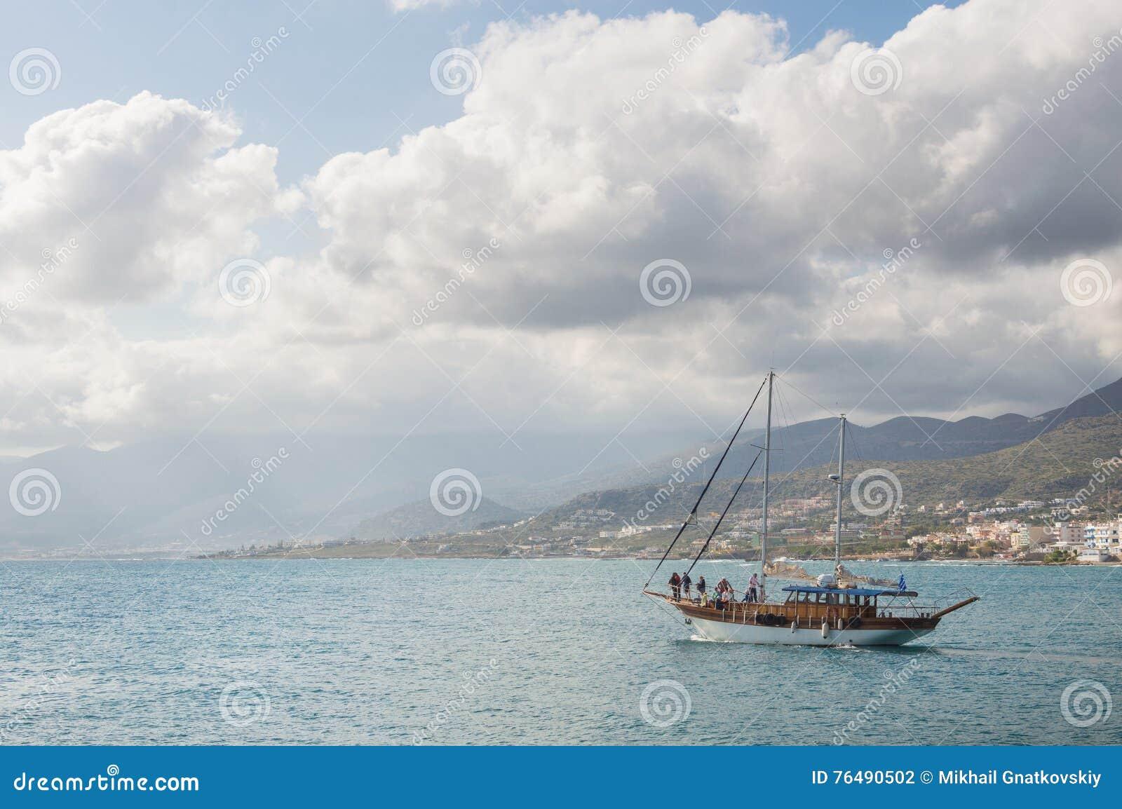 Bardzo dobra Statek w morzu, akwarela zdjęcie stock. Obraz złożonej z QJ26