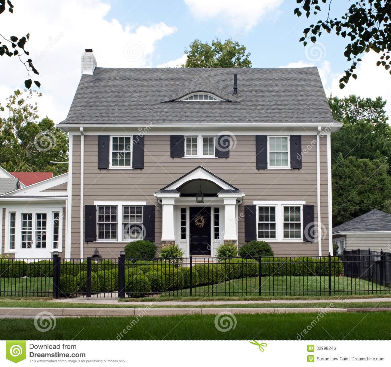 Excellent Two Story House Gray Stock Photo Image 55857184 Largest Home Design Picture Inspirations Pitcheantrous