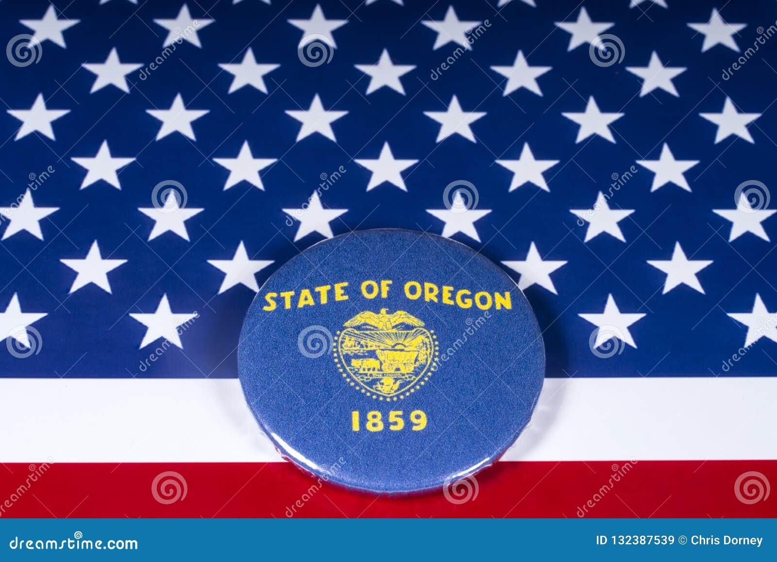 Staten av Oregon i USA