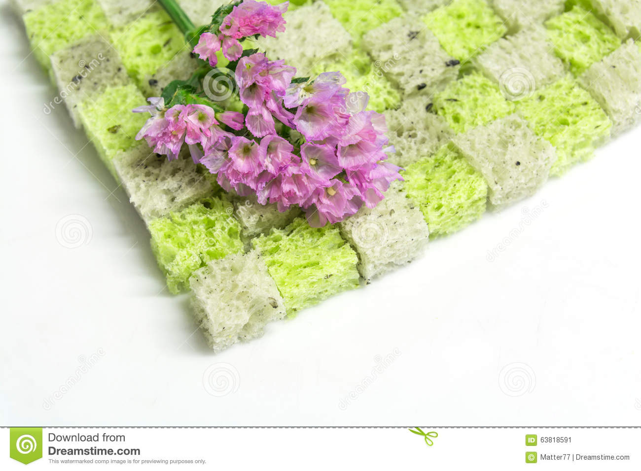 statice flower on bread stock photo  image, Natural flower