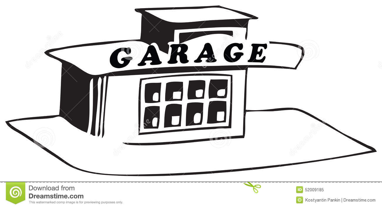 Station car repair stock vector image 52009185 - Dessin garage ...