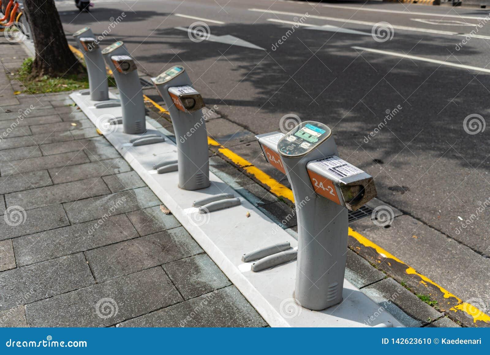 Station d Ubike YouBike Ubike est un réseau de grande diffusion de bicyclette de location à Taïpeh