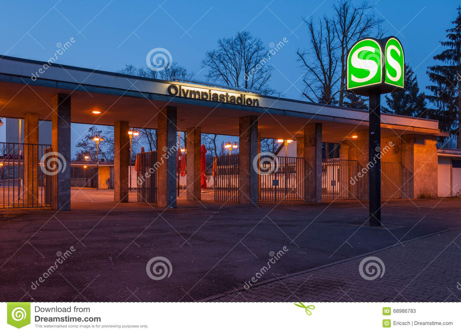 Station de Berlin Olympiastadion