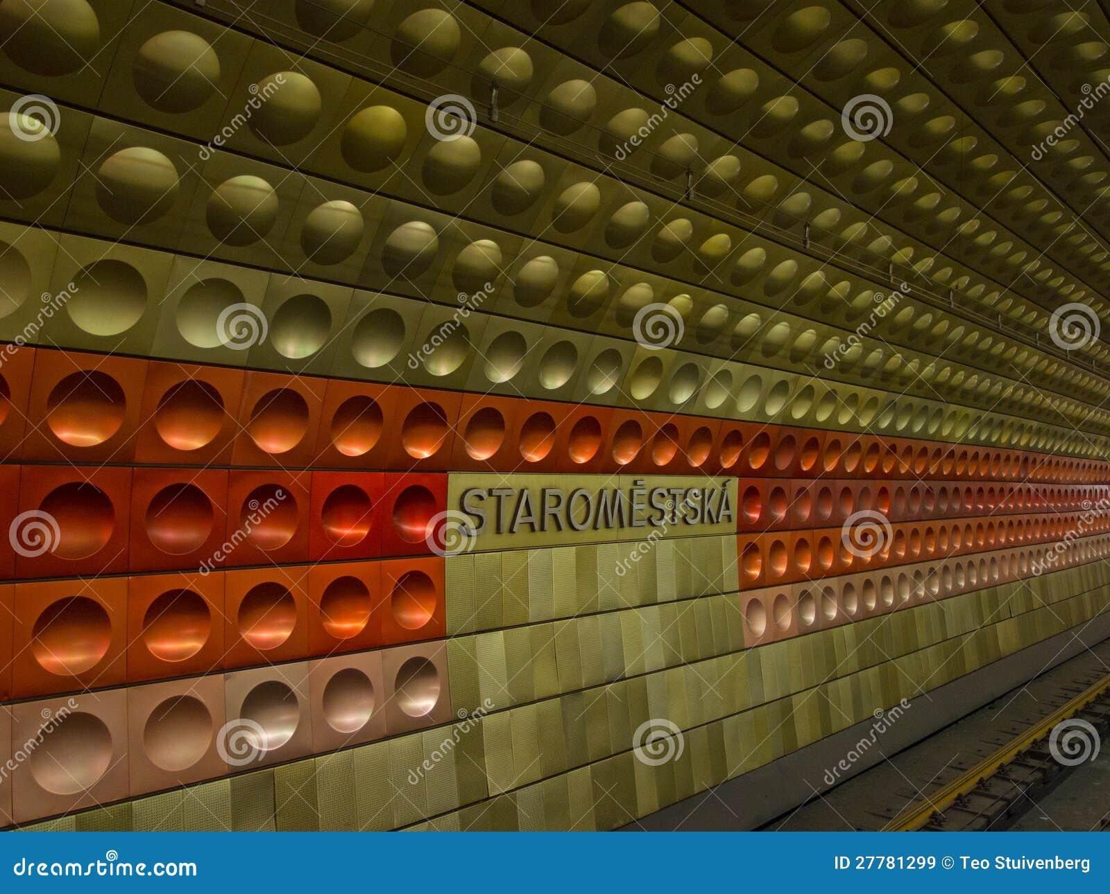 Station de métro à Prague