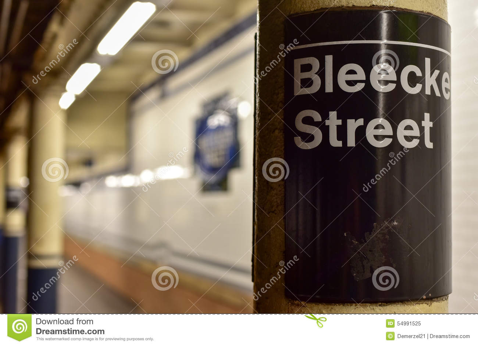 Station de métro de rue de Bleecker - New York City