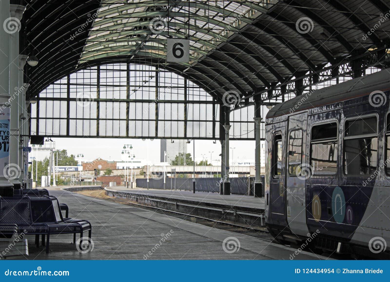 Station de train dans la ville de coque, équitation est de Yorkshire, Royaume-Uni