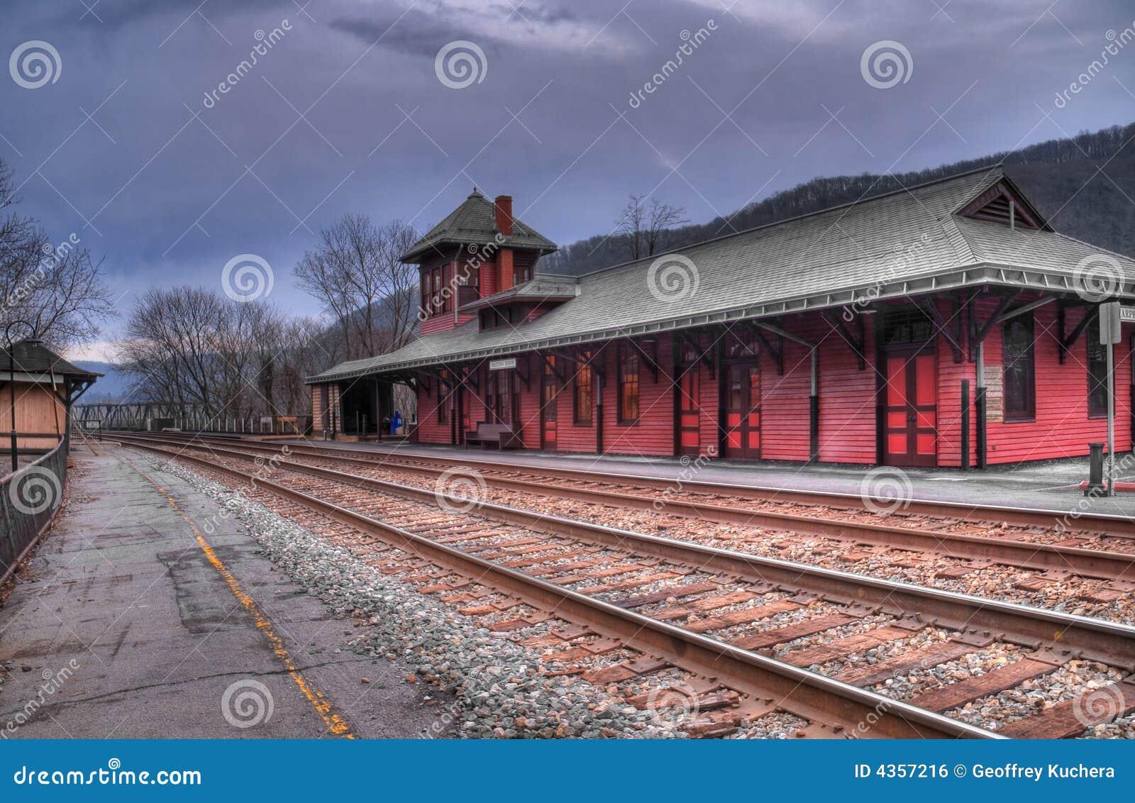 Station de train de la Virginie Occidentale du bac du harpiste