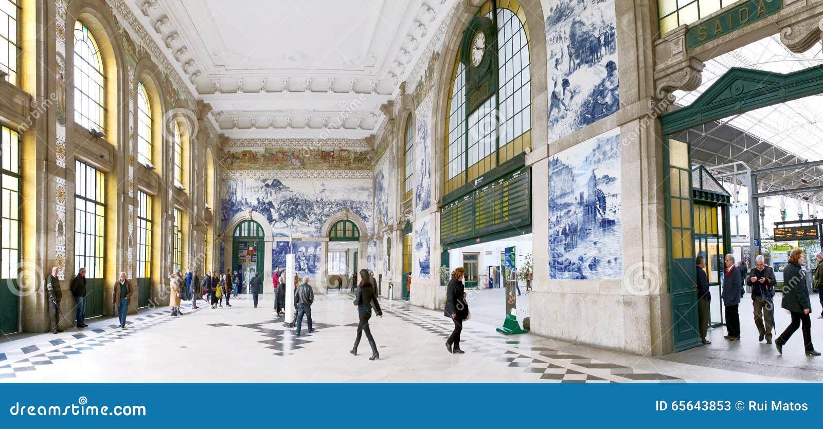Station de train de Porto, S Bento, Portugal