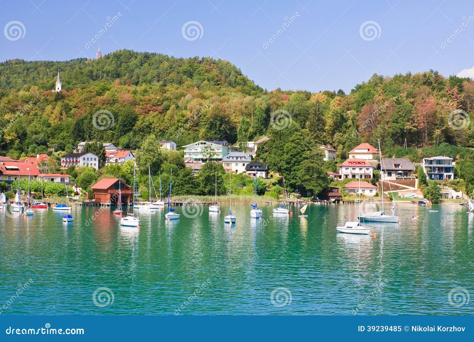 vacances autriche Station de vacances Reifnitz. Valeur de lac. Carinthie, Autriche