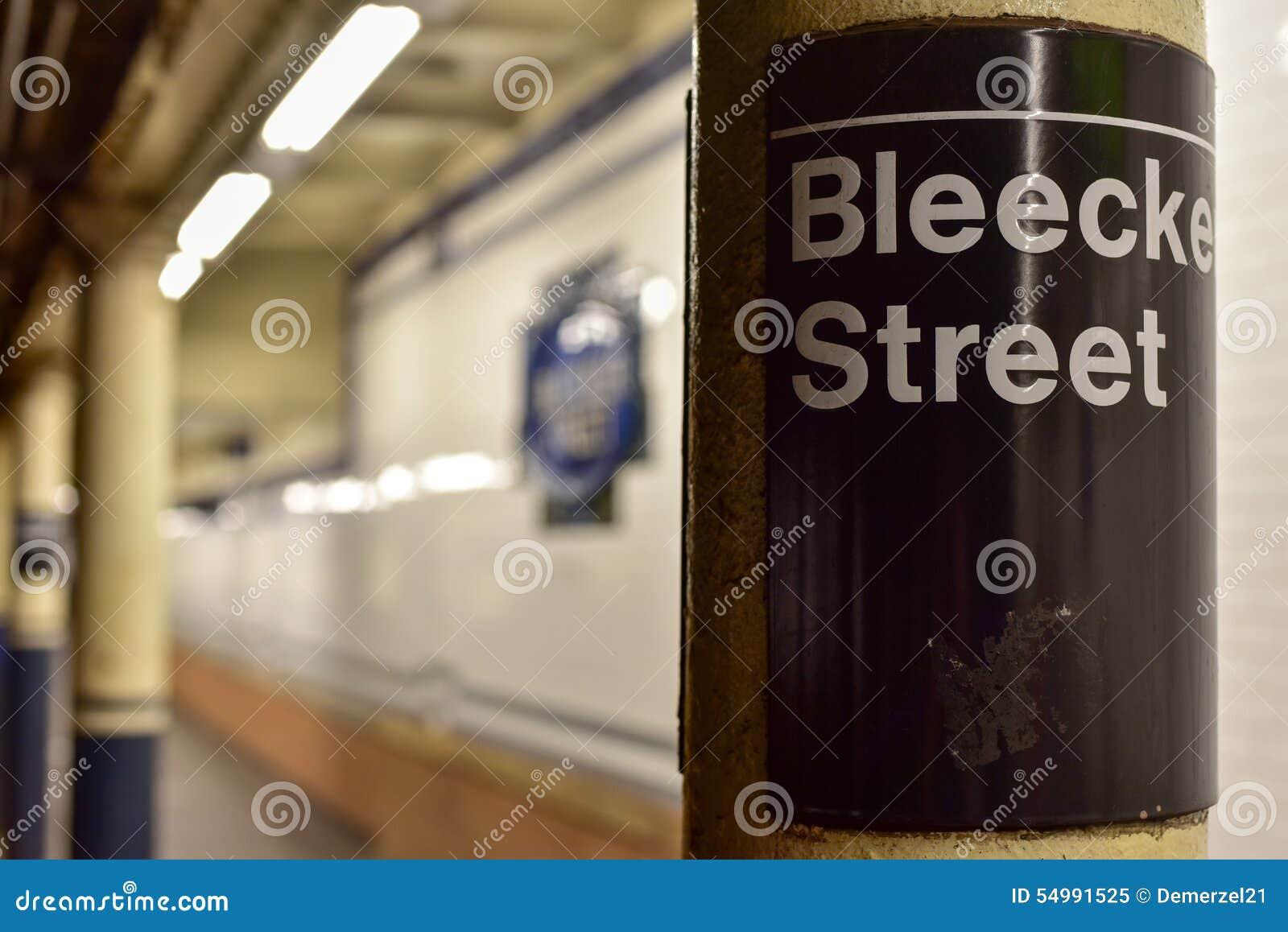 Station för Bleecker gatagångtunnel - New York City