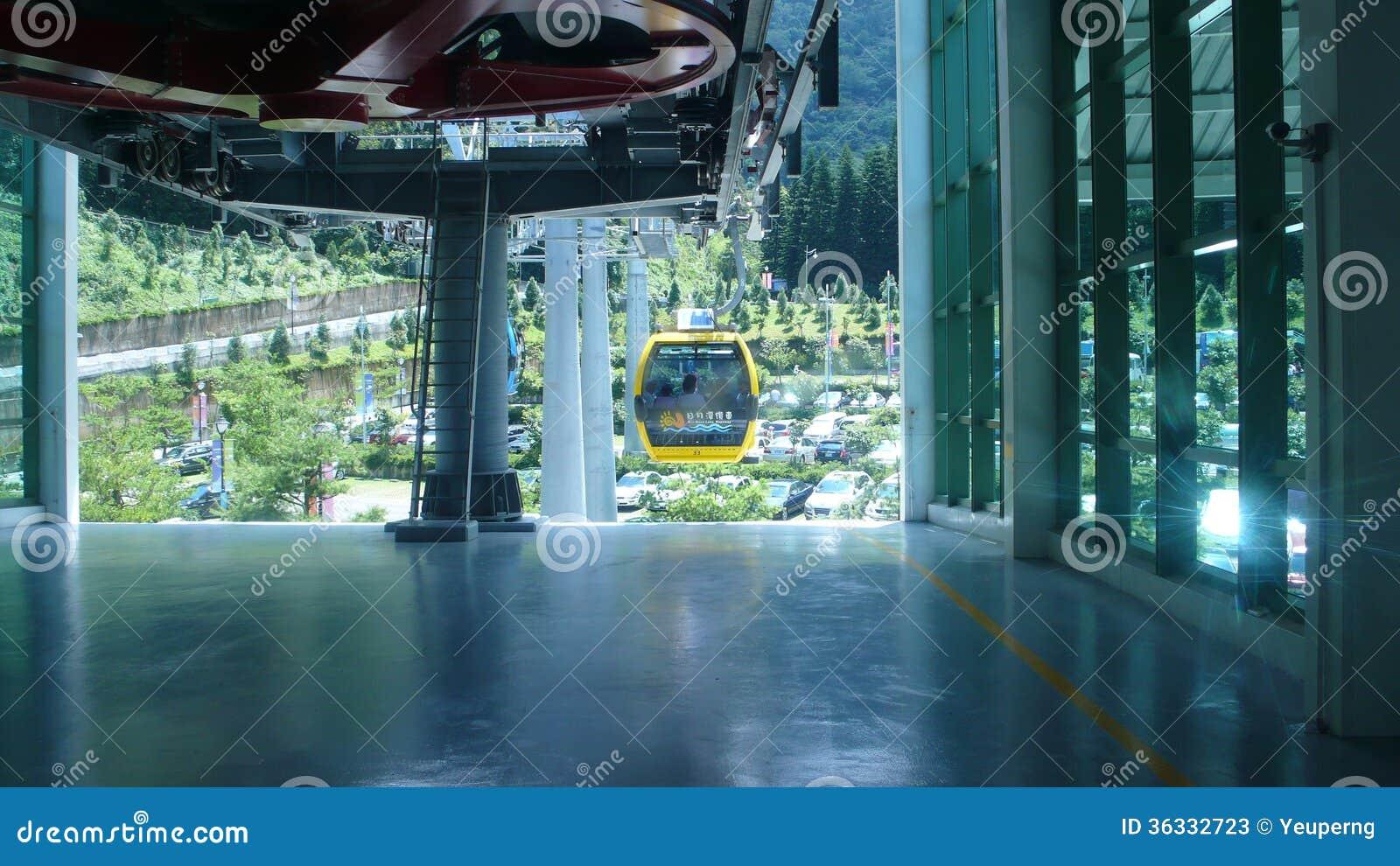 Station för kabelbil