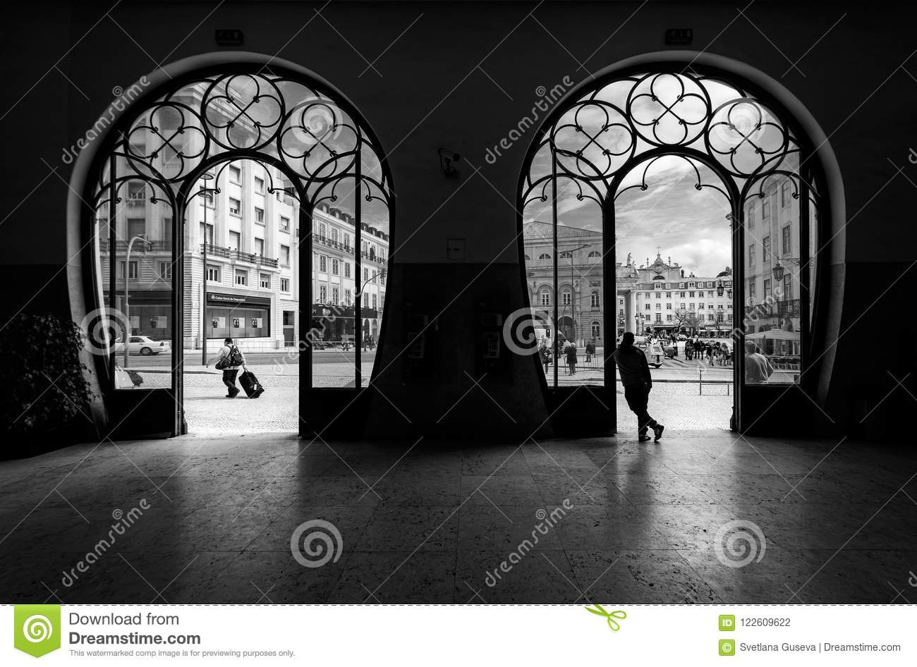 Station Rossio Oude stad van Lissabon portugal Rebecca 36