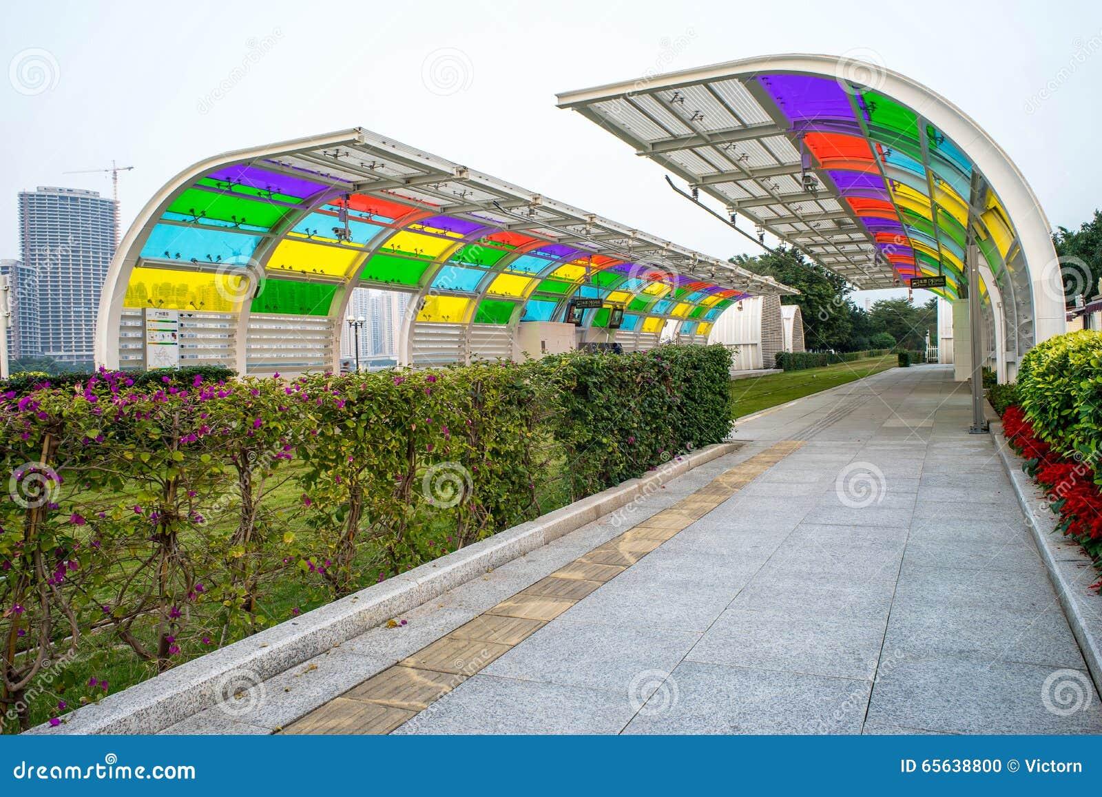 Station vide de chariot