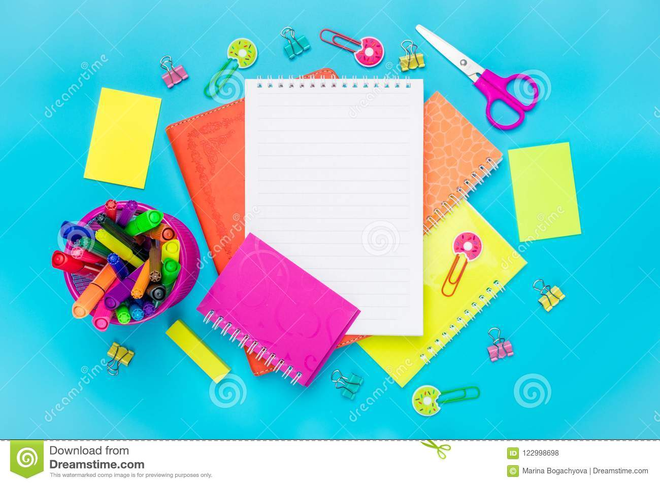 stationary back to school summer time creativity and education