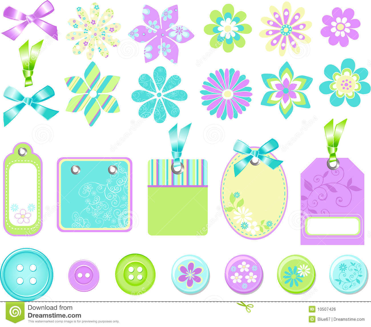 stationary embellishments vector elements stock vector