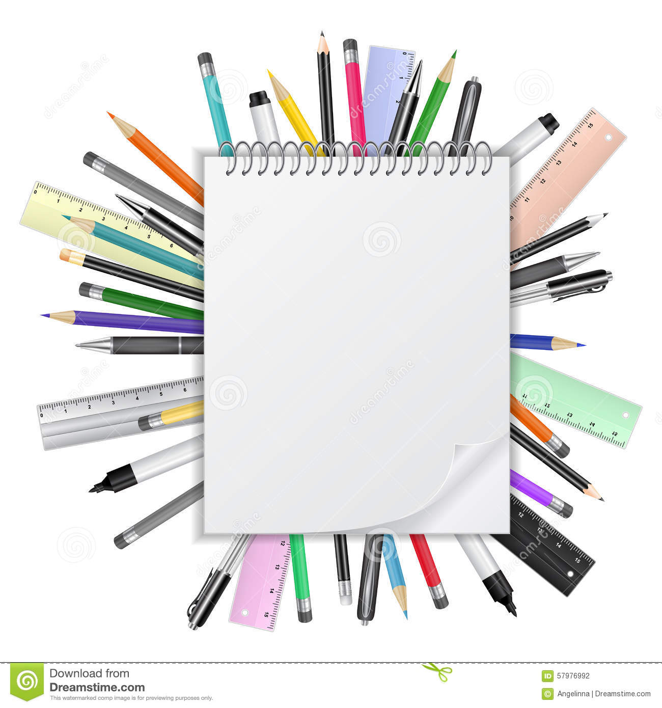 Stationary Stock Vector - Image: 57976992