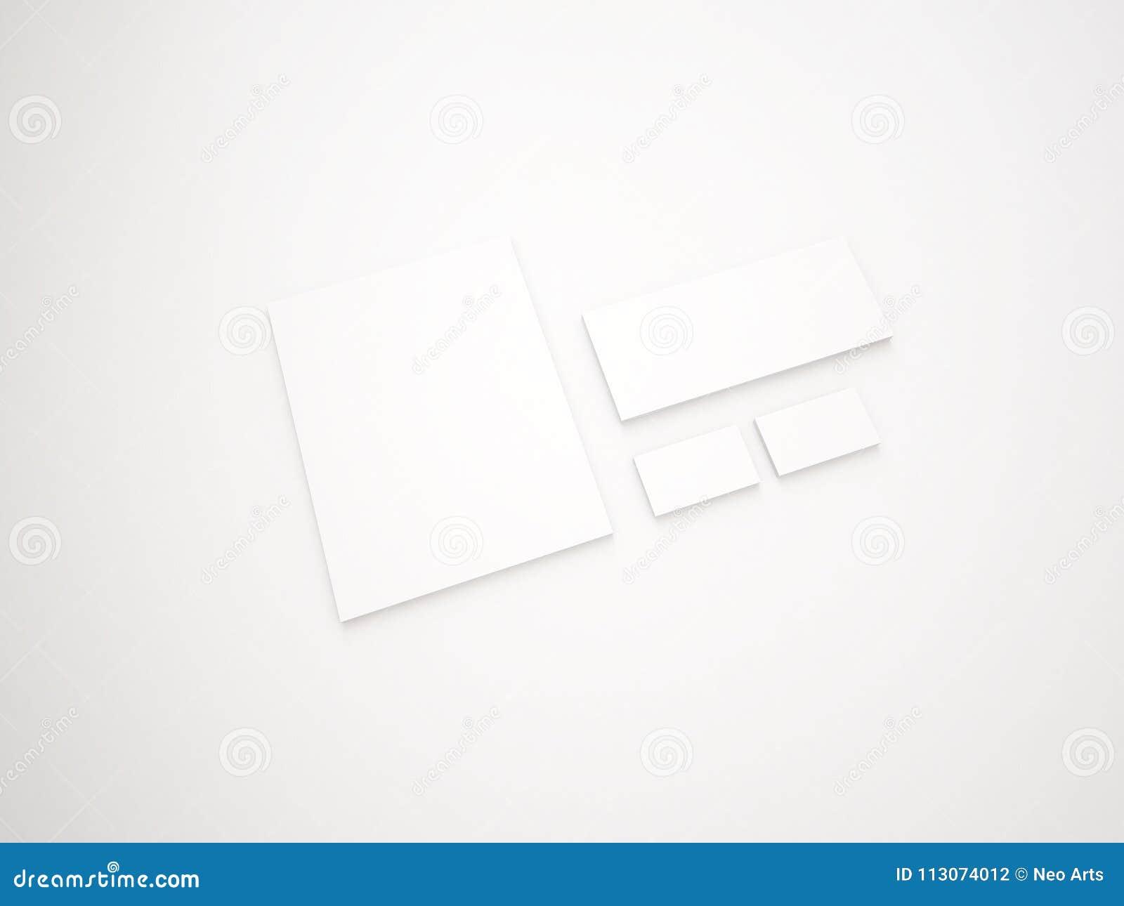 Stationary Item Mock Up Presentation Stock Illustration