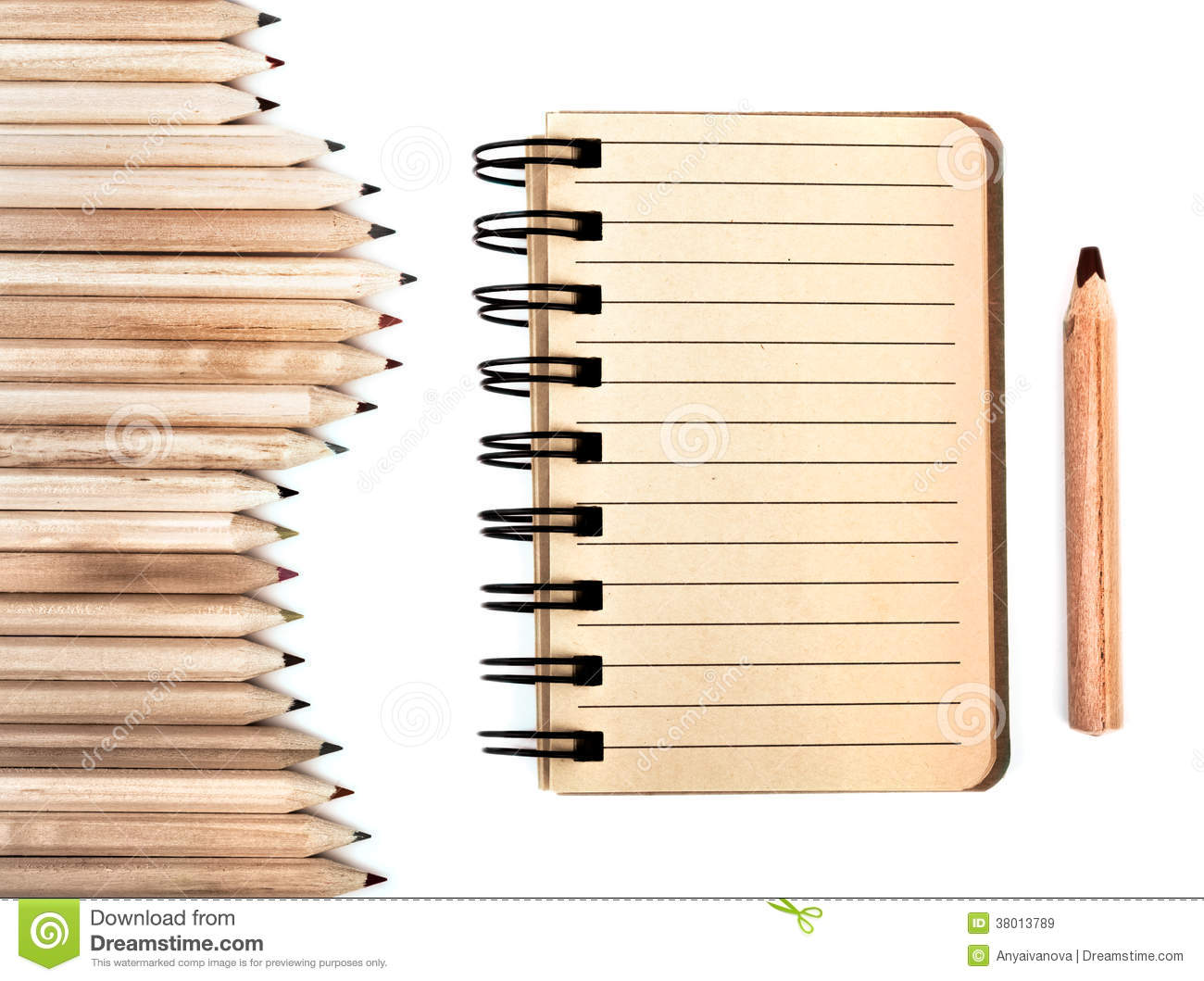 Stationary Made From Sustainable Wood Royalty Free Stock