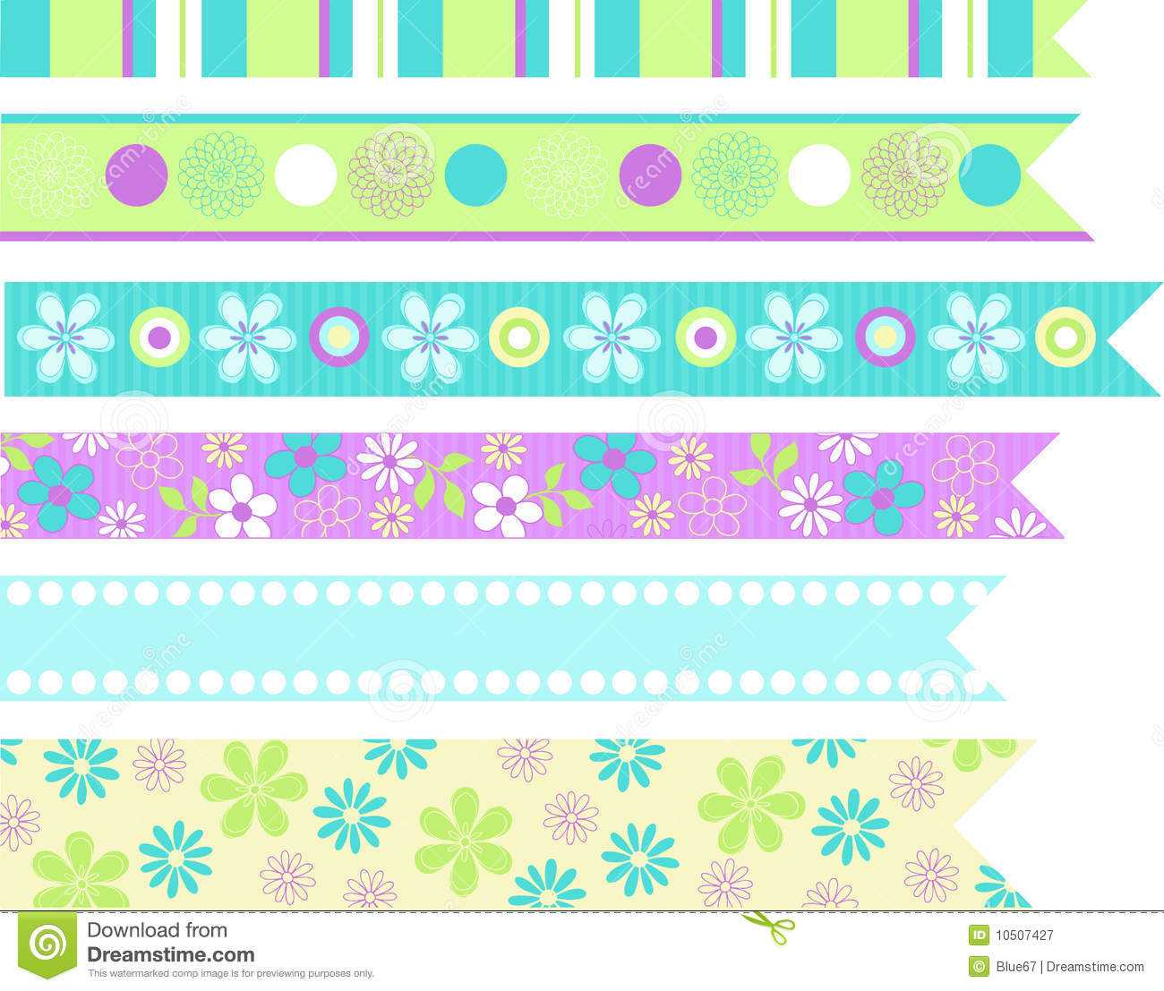Stationary Ribbons Vector Elements Royalty Free Stock Photography Image 10507427