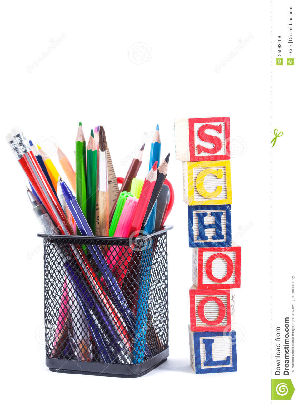 Stationary For School Royalty Free Stock Images Image