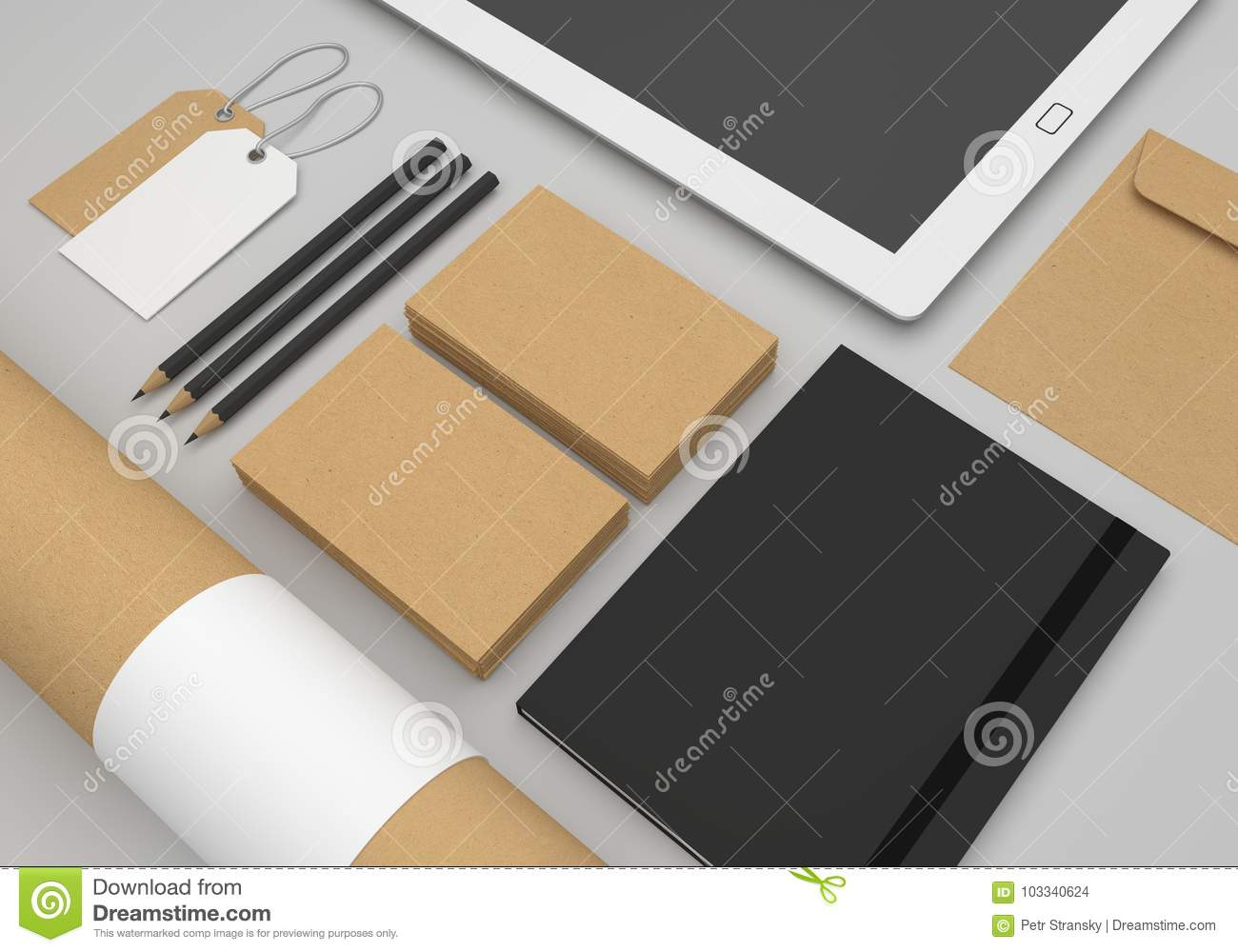 Stationery 3d illustration mockup with recycled paper business cards download stationery 3d illustration mockup with recycled paper business cards stock illustration illustration of reheart Choice Image