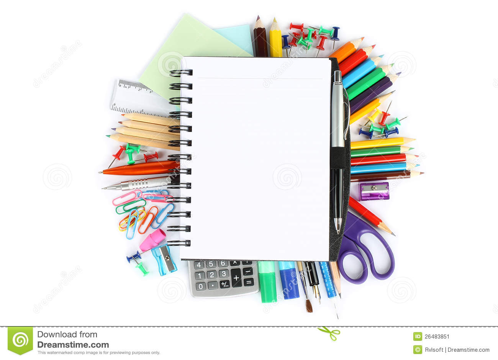 Stationery Items Stock Image Image 26483851