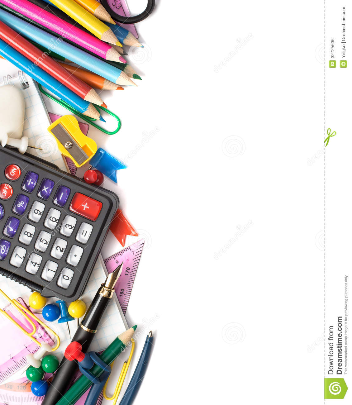 Stationery Royalty Free Stock Image Image 32725636