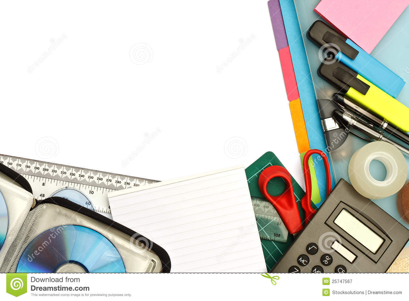Stationery And Office Supplies Stock Image Image 25747567
