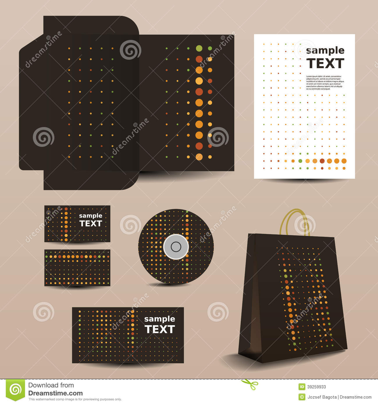 Stationery Template Corporate Image Design Stock Vector